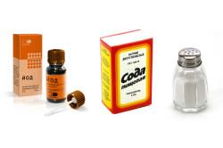 Раствор из соды, соли и йода для полоскания горла