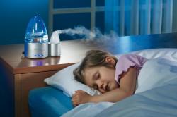 Увлажнение воздуха в помещении при возникновении кашля у ребенка