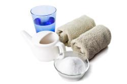 Промывание носа раствором морской соли при гайморите