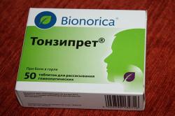 Гомеопатическое средство Тонзипрет