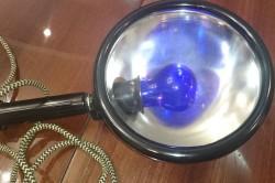 Синяя лампа для прогревания носа